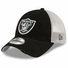0412817fe Raiders New Era 9Twenty Stated Back Trucker Black Cap Oakland Raiders Cap