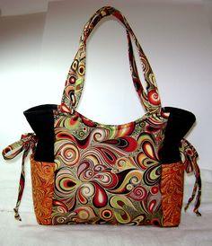 Handmade Purse, Handbag, Purse, Fabric Purse, Medium Handbag OOAK Artsy HP10. $75.00, via Etsy.