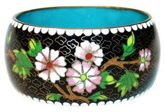 Floral Chinese Cloisonné Bangle | One Kings Lane