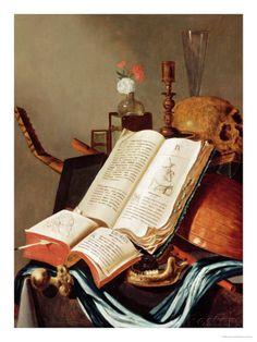 Edwaert Collier (Países Bajos, 1642-1708).  Vanitas Still Life.
