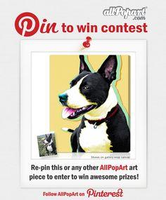 #CustomPetPortraits  #contest #giveaway AllPopArt.com