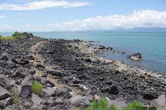 Lava rocks along Nagisa Lava Trail on Sakurajima, Jakub Hałun, 2012, Wiki Commons.