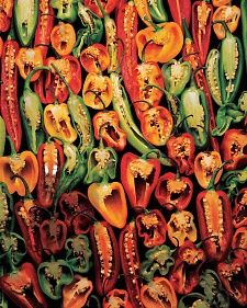 learn all about chiles from Whole Living.  Pantry Powerhouse - infuse oil with chiles  Pain-O-Meter - pepper heat scale