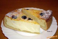 Tvarohovo pudinkový koláč s višněmi | Mimibazar.cz