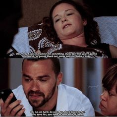my heart was in my stomach while watching this heartbreaking scene😭 April and Jackson deserved a happy ending! Greys Anatomy Episodes, Greys Anatomy Funny, Grays Anatomy Tv, Grey Anatomy Quotes, Greys Anatomy Scrubs, Jackson And April, Jackson Avery, Sarah Drew, Jesse Williams