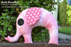 Fabric Toy Elephant