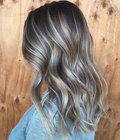 Ash Blonde And Platinum Balayage For Brunettes
