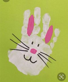 Great Hand Bunny Print Easter Crafts # Bunny # Crafts # Easter # … – Basteln – Wedding Home Easter Crafts For Toddlers, Spring Crafts For Kids, Easter Activities, Toddler Crafts, Art For Kids, Children Crafts, Summer Crafts, Diy Ostern, Easter Art