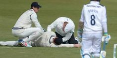 #Australia's #AdamVoges in #hospital after being hit on #head
