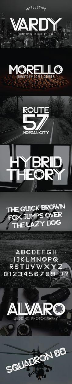 Vardy Display Typeface - Sans-Serif Fonts