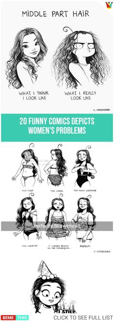 20 Epic Illustrations That Perfectly Depicts the Struggles of Women #womenproblems #comics #funnycomics #epic #humor #funnypictures