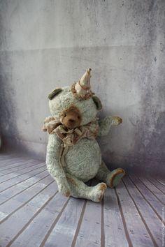 Купить Фредди - серый, мишка, мишка тедди, мишка ручной работы, мишки тедди