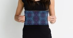 Diamond Pattern Mosaic Glass Studio Pouch