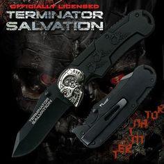 Terminator Salvation Black Pocket Folder Knife Gift Tin by Terminator. $9.99. Terminator Salvation John Connor's Knife MC-TS02B