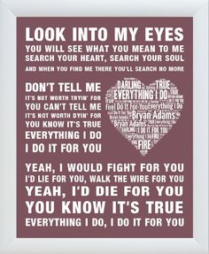 Summer of 69 Shadow Song Lyric Quote Print