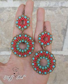 Tibet Earrings Beading Pattern
