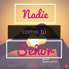 Nadie como tú Señor #NobodyLikeYouLord #GodCanDoTheImpossible #GodIsLove #pray #spanish #love #faith #ReachNations