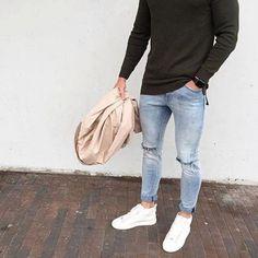 men's fashion suits for business wardrob Men With Street Style, Men Street, Street Wear, Mode Outfits, Casual Outfits, Men Casual, Fashion Outfits, Fresh Outfits, Fashion Fashion