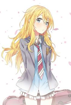 Image via We Heart It #anime #cry #girl #kaori #shigatsuwakiminouso