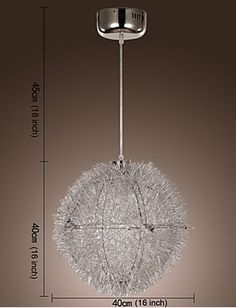 Contemporary Pendant Aluminium Shade