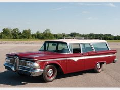 1959 Edsel Villager Six-Passenger Station Wagon in Auburn, IN Station Wagons For Sale, Edsel Ford, Woody Wagon, Farm Trucks, Car Buyer, Us Cars, Ford Motor Company, Future Car, Vintage Advertisements