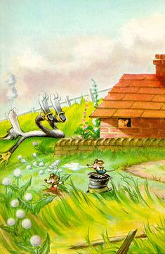 The house of bricks did not fall down - Three Little Pigs - Robert Lumley - Ladybird Books Ladybird Books, Classic Artwork, Three Little Pigs, Cute Pigs, New Theme, Artist Names, Italian Style, Nursery Rhymes, Figure Drawing