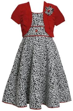 Bonnie Jean Red Textured Jacquard Dress/Sweater Set Girl Plus-Size Special Occasion Flower Girl Party Dress African Dresses For Kids, Girls Party Dress, Little Girl Dresses, Girls Dresses, Kids Dress Wear, Kids Gown, Baby Dress, Frocks For Girls, Kids Frocks