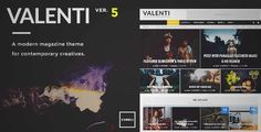 Download and review of Valenti - WordPress HD Review Magazine News Theme, one of the best Themeforest Magazine & Blogs themes