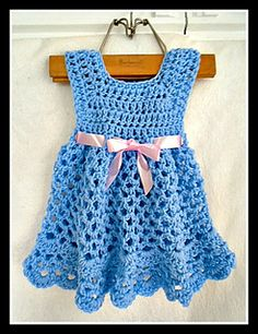 crochet pattern, newborn to 6 years, 2 hour project, on Ravelry: http://www.ravelry.com/patterns/library/990---ellyn-girls-dress