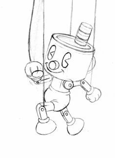 """jake-clark: """" Here's the Blind Specter from Cuphead's"""