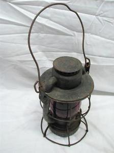 Dietz Vesta New York Haven Hartford RR Lantern Red Globe Dietz Vesta NYNH&H