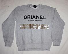 BRIAN LICHTENBERG BLTEE BRIANEL EAU DE PARFUM SWEATSHIRT TOP GRAY SIZE XL NEW #Brianlichtenberg #SweatshirtCrew