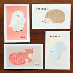 Printable Animal Sewing Cards For Kids.                 Would be cute Valentine's Day card