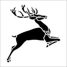 Red Deer Solo stencil from The Stencil Library BUDGET STENCILS range. Buy stencils online. Stencil code CS73.