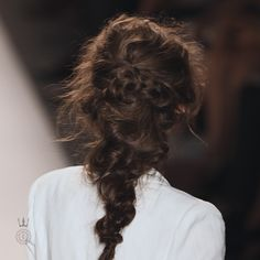 How To: Three Amazing Braids Take a cue from Katniss and play with your hair. by Arabelle Sicardi Woven Topknot The Technique: Start with da...