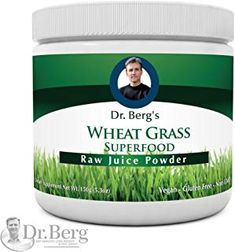 Berg's Wheat Grass Juice Powder – Raw & Ultra-Concentrated Nutrients – Rich in Vitamins, Chlorophyll & Trace Minerals – 60 Servings – Gluten Free – Non-GMO – oz (Solo Pack) Wheat Grass Shots, Tone Arms Workout, Best Fat Burning Pills, Dr Berg, Vitamins For Energy, Raw Juice, Superfood Powder, Protein Supplements, Fitness Workout For Women