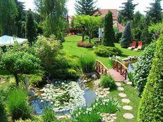 Rock Garden Design, Backyard Garden Design, Garden Pool, Front Garden Landscape, Front Yard Landscaping, Farm Layout, Backyard Plants, Backyard Makeover, Garden Cottage
