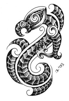 Gorgeous Maori tattoo that reminds me of a dragon.