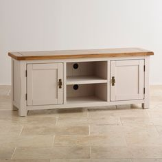 Kemble Solid Oak Widescreen TV Cabinet wide or narrow oak furnitureland