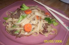 Asian Style Pork and Noodle Bowl