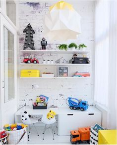 Love the variety of containers - the boo and the boy: kids' rooms on instagram