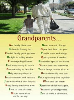 This is what Grandparents should mean to their Grandchildren. It is sad to watch your little boys grow up with Grandparents who ignore them and act like they mean nothing to them while always spending time with the other Grandchildren. Grandma Quotes, Daughter Quotes, Sister Quotes, Father Daughter, Grandma And Grandpa, Grandmother Poem, Family Quotes, Mommy Quotes, Grandchildren