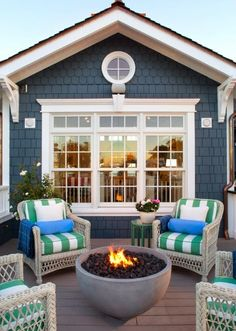 Coastal Living Magazine Showhouse 2014 - beach-style - Deck - San Diego - Flagg Coastal Homes Coastal Cottage, Cottage Style, Summer Porch Decor, Beach House Decor, Outdoor Living, House Exterior, Beach Cottage Style, Beautiful Homes, House Colors