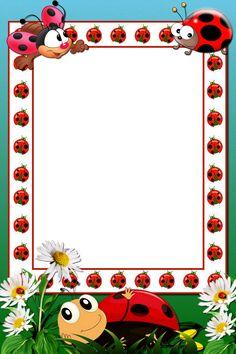 Borders For Paper, Borders And Frames, Lady Bug, Paper Art, Paper Crafts, Alphabet Tracing Worksheets, Ladybug Art, Framed Wallpaper, Baby Memories