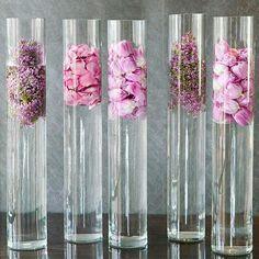 Стеклянная ваза Трубка с цветами