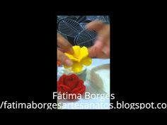 QUADRO COM FLORES DE EVA EM 3D - YouTube