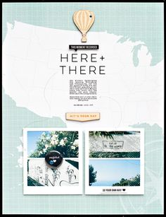 #papercrafting #scrapbook #layout idea: *here + there* by JanineLanger at @studio_calico