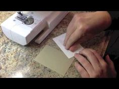 ▶ Sewing on Cards - YouTube