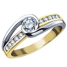 if we did two tone we could use the family gold AND the wedding bands could be done in white gold!  ***