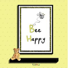 36 Trendy Ideas For Home Office For 2 People Frames Picture Room Decor, Yellow Crafts, Wedding Gifts For Friends, Budget Organization, Bee Happy, Craft Business, Mellow Yellow, Kids Decor, Printable Wall Art